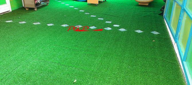 Hình ảnh mẫu thi công cỏ nhân tạo đẹp mắt